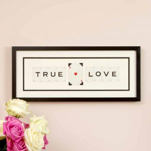 True Love Vintage Card Frame