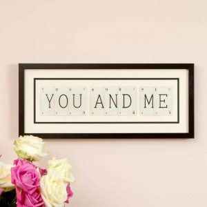You And Me Vintage Card Frame