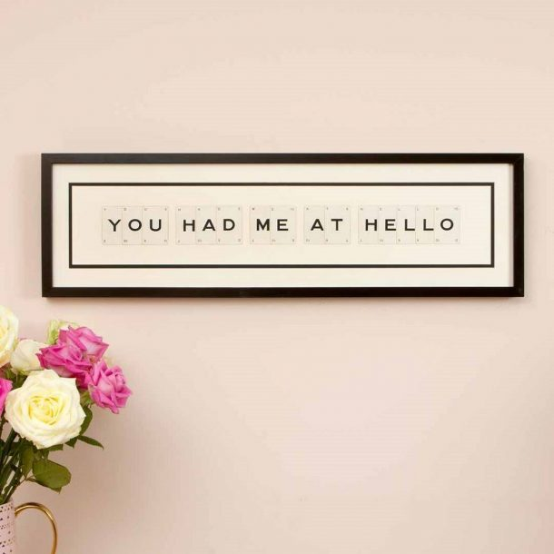 You Had Me At Hello Vintage Card Frame