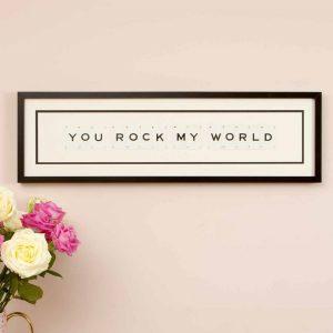 You rock my world Vintage Card Frame