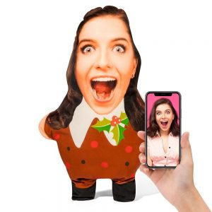 Christmas Pudding Mini Me Personalised Doll