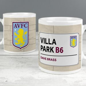 Personalised Aston Villa FC Street Sign Mug