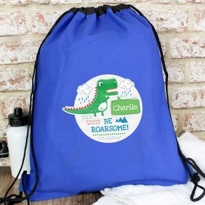Personalised 'Be Roarsome' Dinosaur Kit Bag