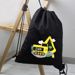Personalised Digger Black Kit Bag