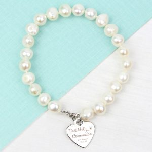 Personalised First Holy Communion Freshwater Pearl Bracelet