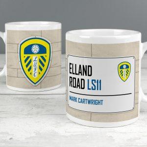 Personalised Leeds United FC Street Sign Mug