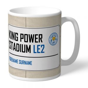 Personalised Leicester City FC Street Sign Mug
