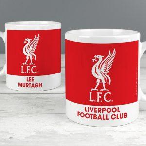 Personalised Liverpool FC Bold Crest Mug