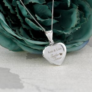 Personalised Sterling Silver Together Forever Heart Locket
