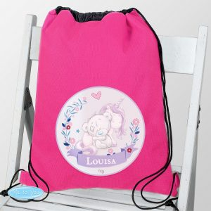 Personalised Tiny Tatty Teddy Unicorn Swim & Kit Bag