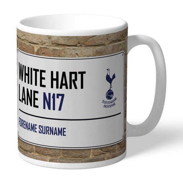 Personalised Tottenham Hotspur Street Sign Mug