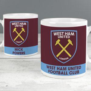 Personalised West Ham United FC Bold Crest Mug