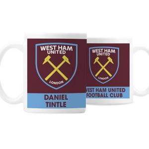 Personalised West Ham United FC Bold Crest Mug