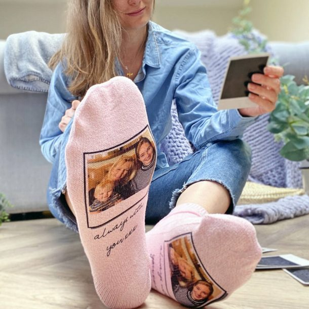 Letterbox Gift Socks With Personalised Photo Upload