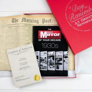 Original Newspaper & 1930's Decade Book
