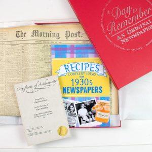 Original Newspaper & 1930's Recipe Book