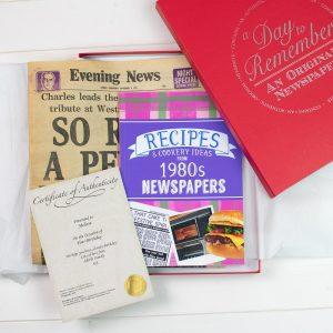 Original Newspaper & 1980's Recipe Book