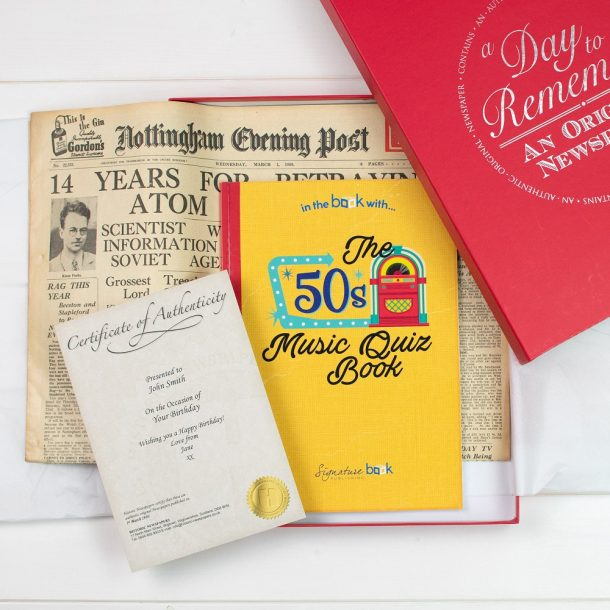 Original Newspaper & 50's Music Quiz Book