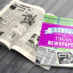 Personalised 1960's Newspaper Recipe Softback Book