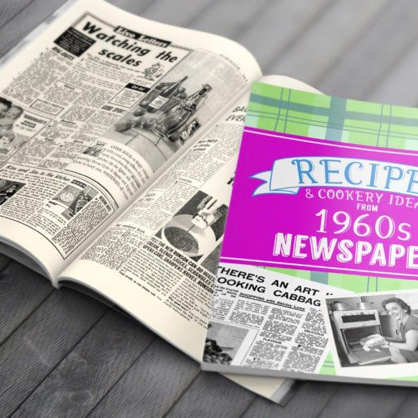 Personalised 1960's Newspaper Recipe Softback Book
