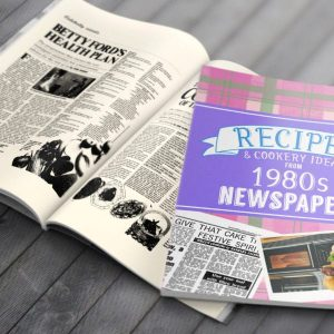 Personalised 1980's Newspaper Recipe Softback Book