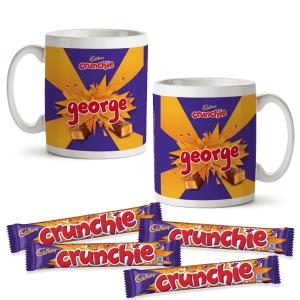 Personalised Cadbury Crunchie Mug & 4 Crunchie Bars
