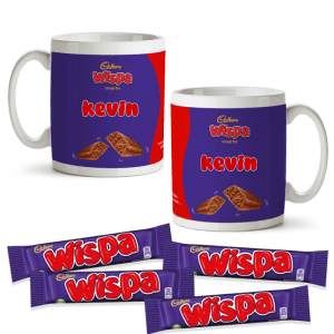 Personalised Cadbury Wispa Mug & 4 Wispa Bars