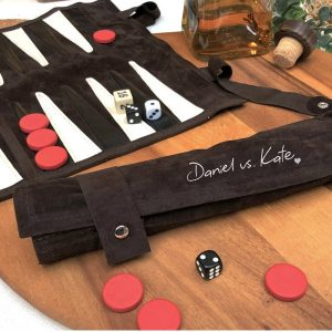 Personalised Couple's Backgammon Set