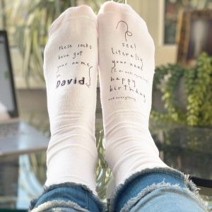 Personalised Funny Birthday Socks