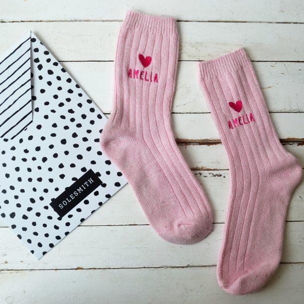 Personalised Heart Snug Socks