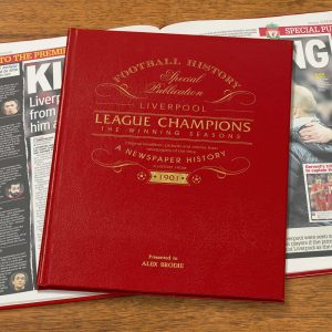 Personalised Liverpool League Champions Newspaper Book