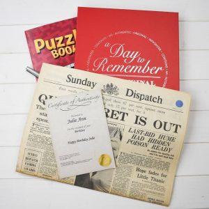 Personalised Original Newspaper & Puzzle Book Gift Set
