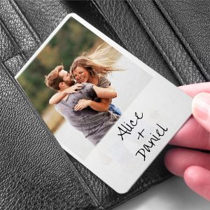 Personalised Photo Upload Moment In Time Metal Wallet Keepsake