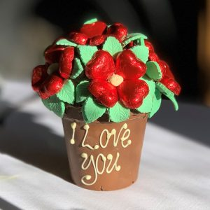 Personalised Red Smash Flower Pot