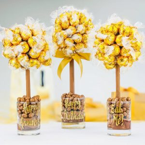 Personalised White Lindor Sweet Trees