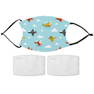 Kids Aeroplane Pattern Face Mask