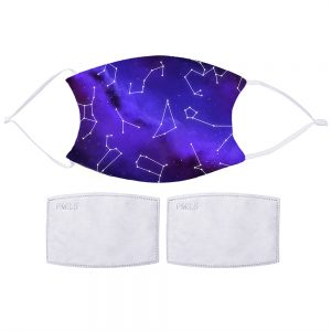Night Sky Constellations Face Mask