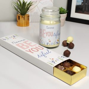 Personalised Be You Candle Jar & Truffles Set