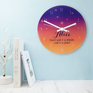 Personalised Desert At Dusk Glass Clock