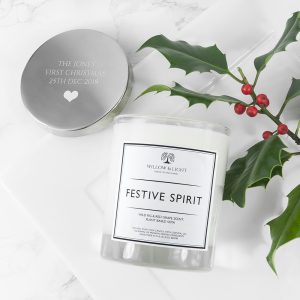 Personalised Festive Spirit Scented Jar Candle