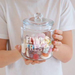 Personalised Glass Treats Jar