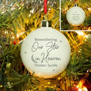 Personalised Our Star In Heaven Bauble