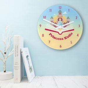 Personalised Storybook Princess Glass Clock