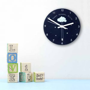 Personalised Sweet Dreams Glass Clock