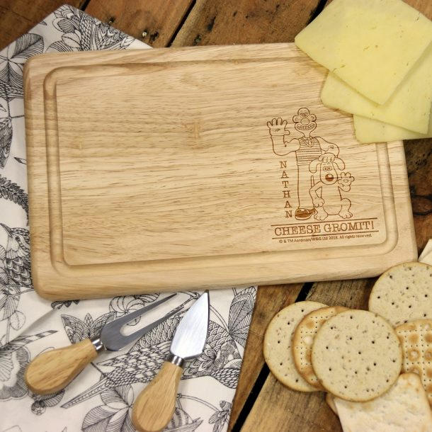 Personalised 'Cheese Gromit' Rectangle Cheese Board