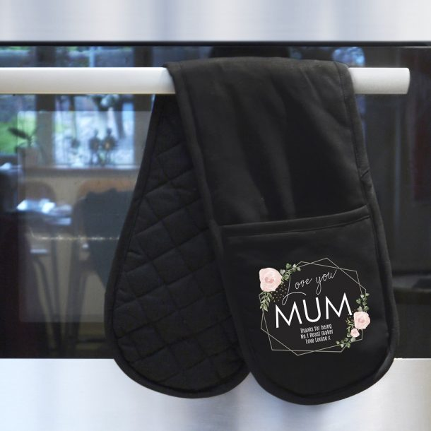 Personalised Abstract Rose Oven Gloves