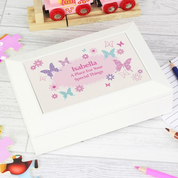 Personalised Butterfly Jewellery Box