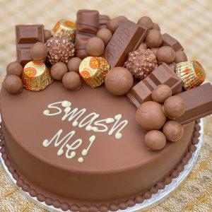 Personalised Chocoholic Smash Cake