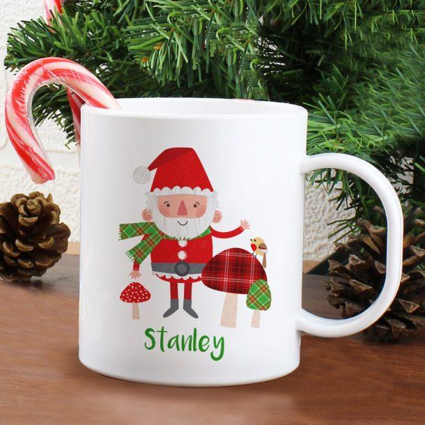 Personalised Christmas Toadstool Plastic Mug