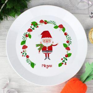 Personalised Christmas Toadstool Plastic Plate